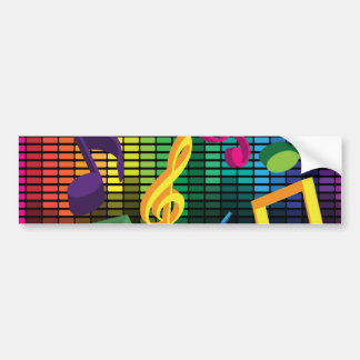 Music Party Background Bumper Sticker