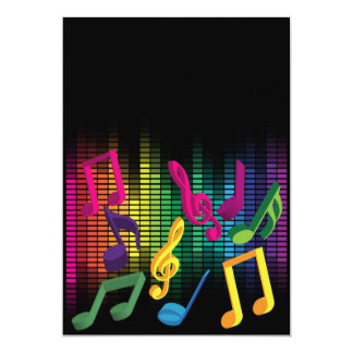 Music Party Background Card