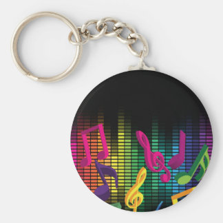 Music Party Background Keychain