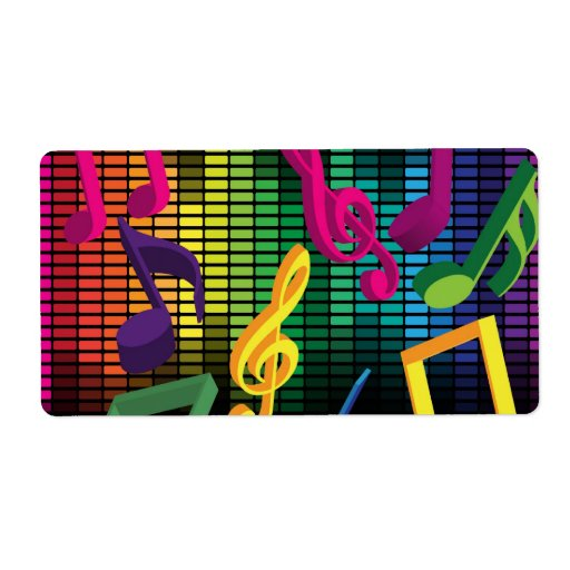 Music Party Background Shipping Label