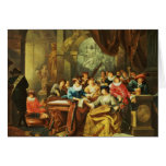 Music Party in a Palatial Interior with Card