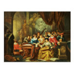 Music Party in a Palatial Interior with Postcard