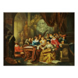 Music Party in a Palatial Interior with Poster