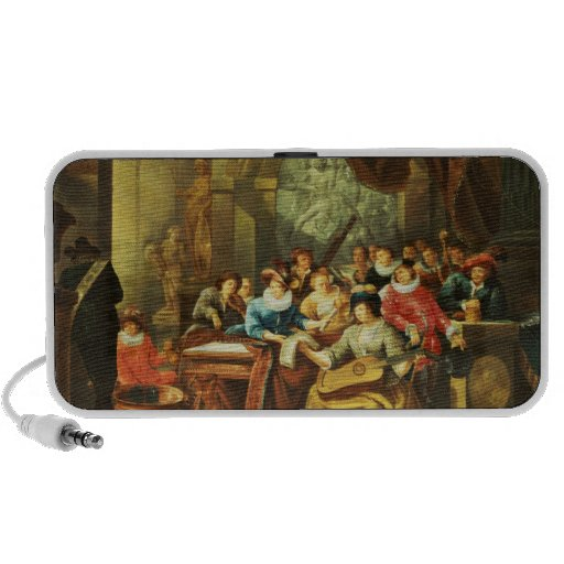 Music Party in a Palatial Interior with Speaker