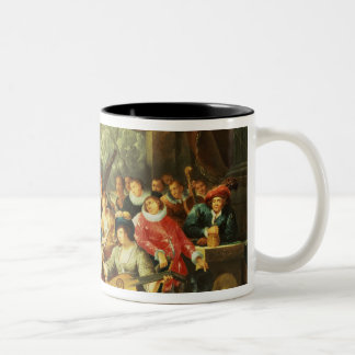Music Party in a Palatial Interior with Two-Tone Coffee Mug