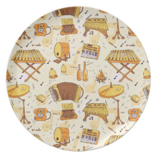 music party plate