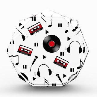 Music pattern acrylic award