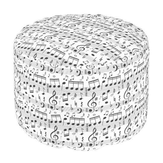 Music Pattern poufs