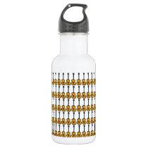 music pattern ~ violões stainless steel water bottle