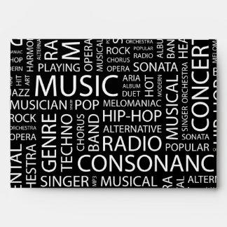 MUSIC pattern word cloud Envelopes