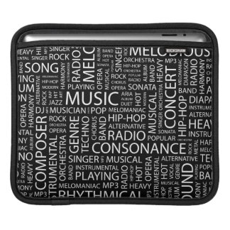 MUSIC pattern word cloud Sleeve For iPads