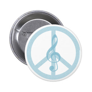 Music Peace 2 Inch Round Button