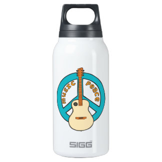 Music Peace Guitar 10 Oz Insulated SIGG Thermos Water Bottle