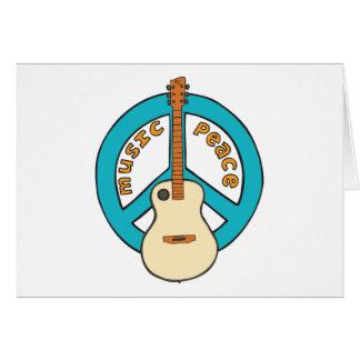 Music Peace Guitar Card