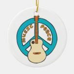 Music Peace Guitar Ornament