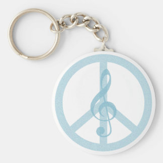Music Peace Keychains