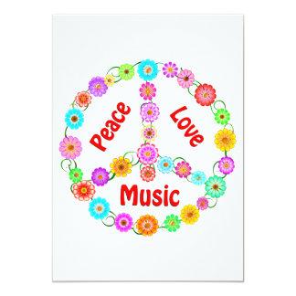 Music Peace Love Card
