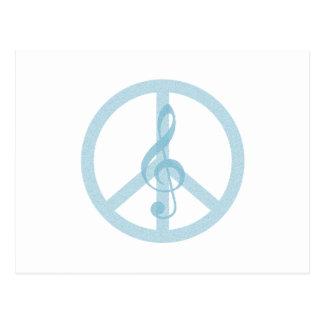 Music Peace Postcard