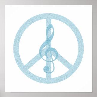 Music Peace Symbol Poster