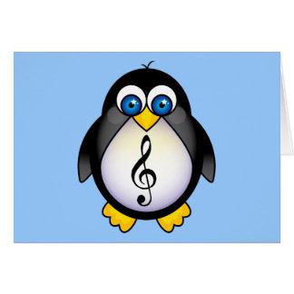 Music Penguin Treble Clef Greeting Card