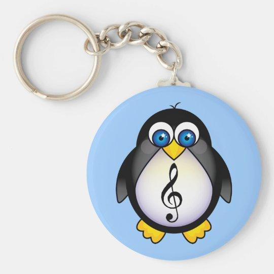 Music Penguin Treble Clef Keychain