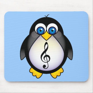 Music Penguin Treble Clef Mouse Pad