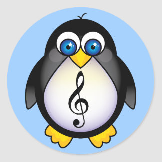 Music Penguin Treble Clef Stickers