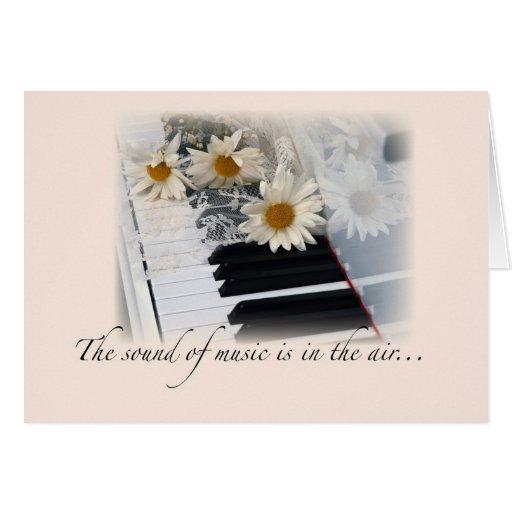 Music Performance Congratulations, Piano, Daisies Greeting Card