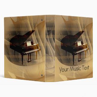Music Piano 3 Ring Binders
