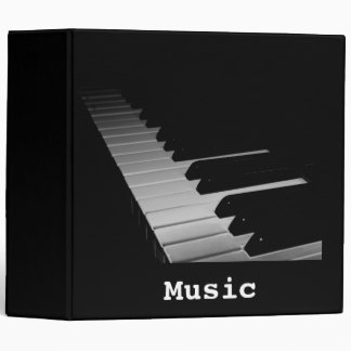 """Music Piano Bar with gclef  2""""8 Binder"""