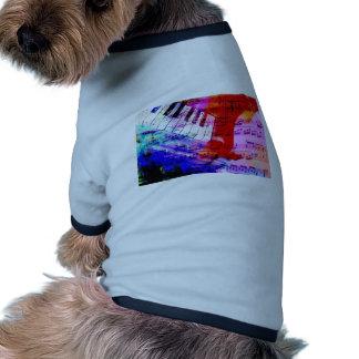music, piano decor (11) doggie tshirt