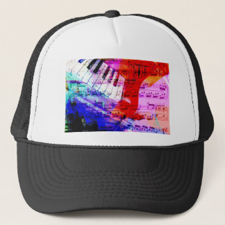 music, piano decor (11) trucker hat