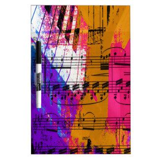 music, piano decor (12) dry erase whiteboard