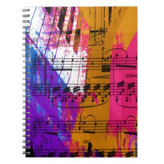 music, piano decor (12) notebook