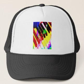 music, piano decor (21) trucker hat