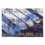music, piano decor (3) cloth placemat