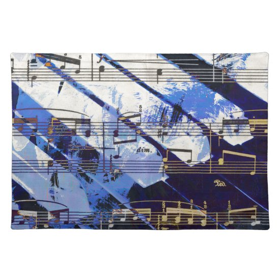 music, piano decor (3) placemat