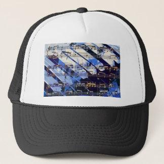 music, piano decor (3) trucker hat