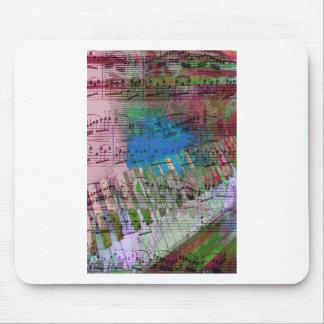 music, piano decor (6) mousepad