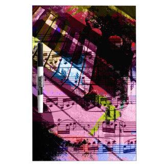 music, piano decor (9) dry erase whiteboards