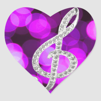 Music Piano Gclef Heart Sticker