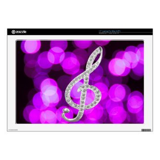 """Music Piano Gclef 17"""" Laptop Decal"""