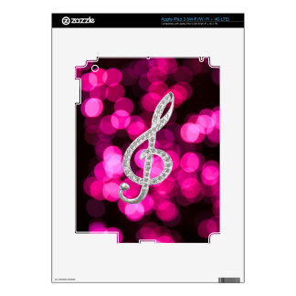 Music Piano Gclef Decal For iPad 3