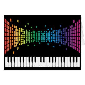 Music piano instrumental keyboard multicolored card