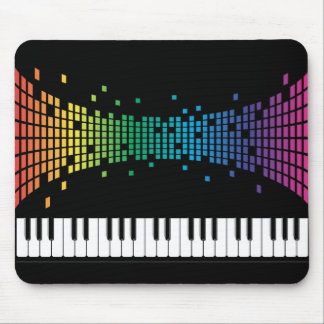Music piano instrumental keyboard multicolored mouse pad