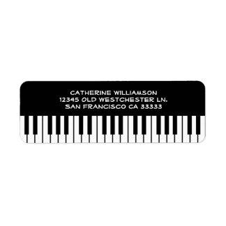 Music Piano Keyboard Keys Custom Name or Company Etiquetas De Remite
