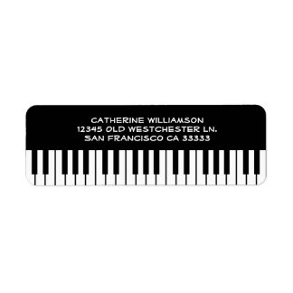 Music Piano Keyboard Keys Custom Name or Company Label