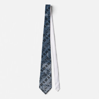 Music Piano Keyboard Neck Tie