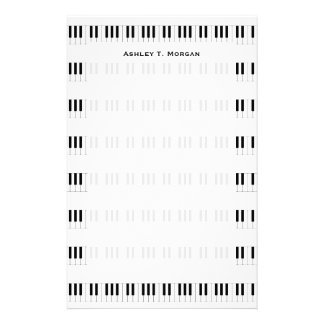Music: Piano Keyboard Pattern Custom Stationery