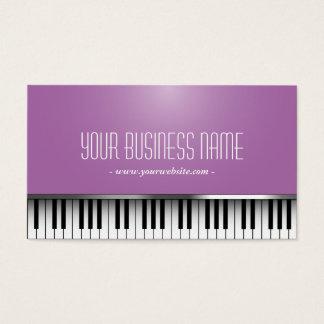Music Piano Keys Elegant Purple Business Card
